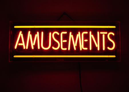 Classic Amusements Neon Sign